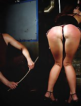 Hard spanking with Angie in ultra sexy lingerie.