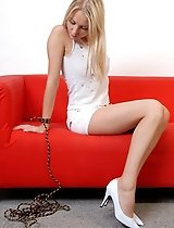 Nice Rosanna tied on the sofa